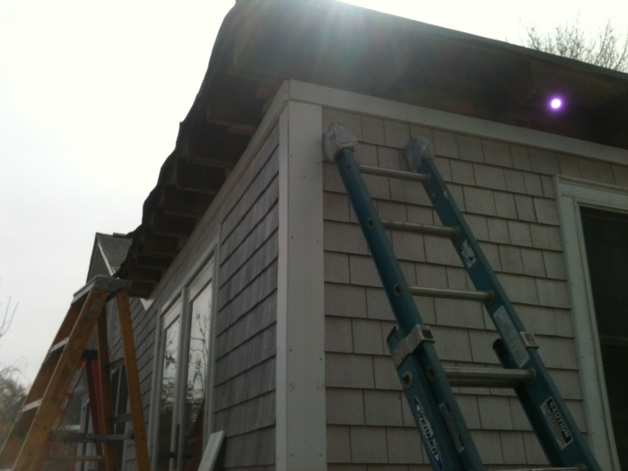 Old Gutters And Trim Removed Westport