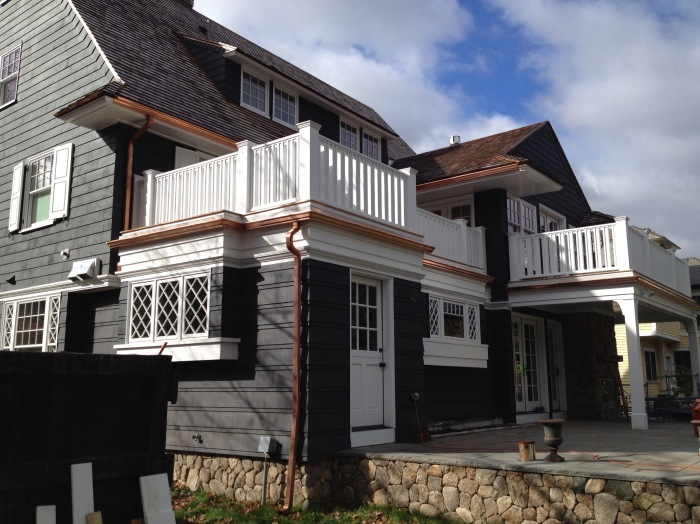copper gutters and downspouts wellesley