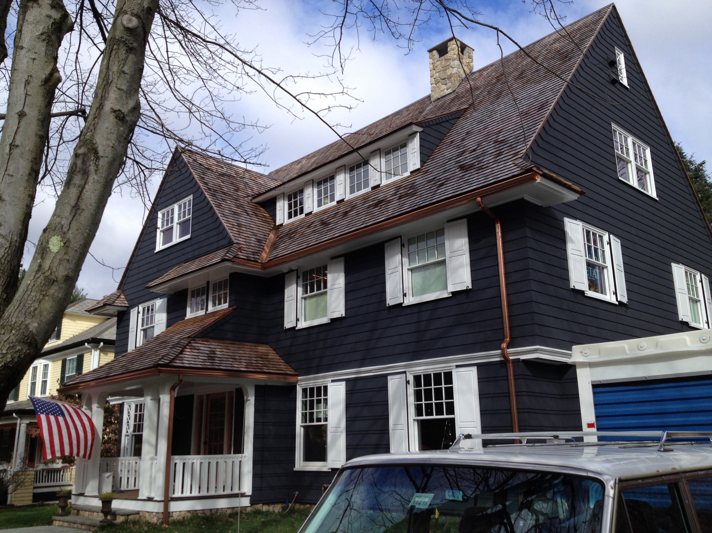 Copper Gutter Gutter Pro On The Job In Massachusetts And