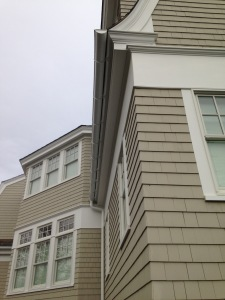 half round gutter on moulding