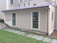 half round copper gutter and downspout easton