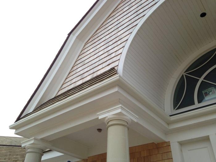 Wood Replacement Fiberglass Gutter