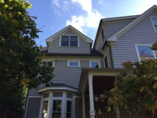 aluminum gutter and round downspout wellesley